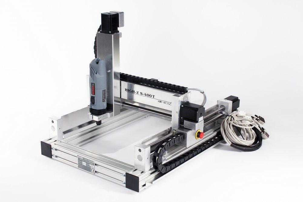 kaufen CNC Portalfraesmaschine / Fraesmaschinen / Gravierer / 3D und 2D Fräsmaschine High-Z S-400/T für Bearbeitung von Holz, Metall, Messing, PVC, Plexiglas, Glas, Granit etc