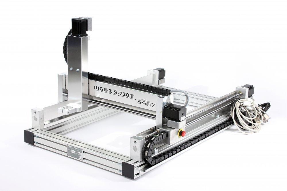kaufen CNC Portalfraese / Fraese High-Z S-720/T mit Kugelgewindespindeln zum 2D und 3D Fraesen, Bohren, Schneiden von Metallen, Kunststoffen, Hölzern, Stein, Glas, Komposit, GFK, CFK