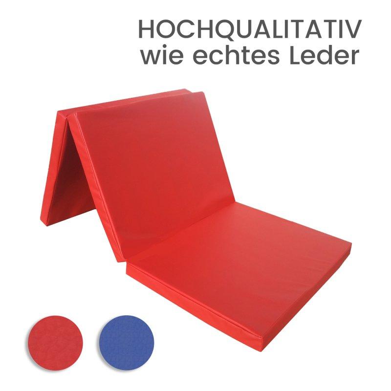 kaufen Turnmatte Weichbodenmatte Klappmatte Rot robust, mit feiner Musterstruktur
