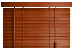 kaufen Holzjalousie mit 25 mm Lamellen - Kirschbaum 50x160 cm