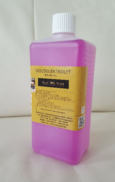 Goldelektrolyt 8 Gramm per Liter -  Hohe Qualität! Gold Plating Solution