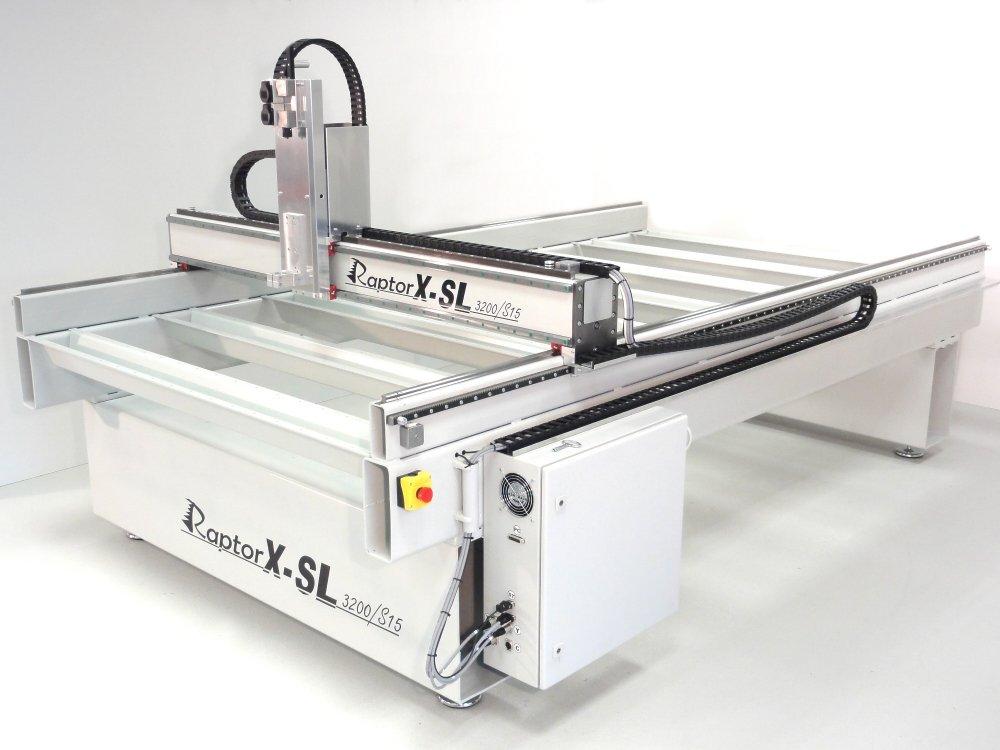 kaufen XXL Fraesmaschine / Portalfraese Stahl-RaptorX-SL3200/S20 mit 3200x2010x300mm / 20er Linearführungen, Zahnstangen
