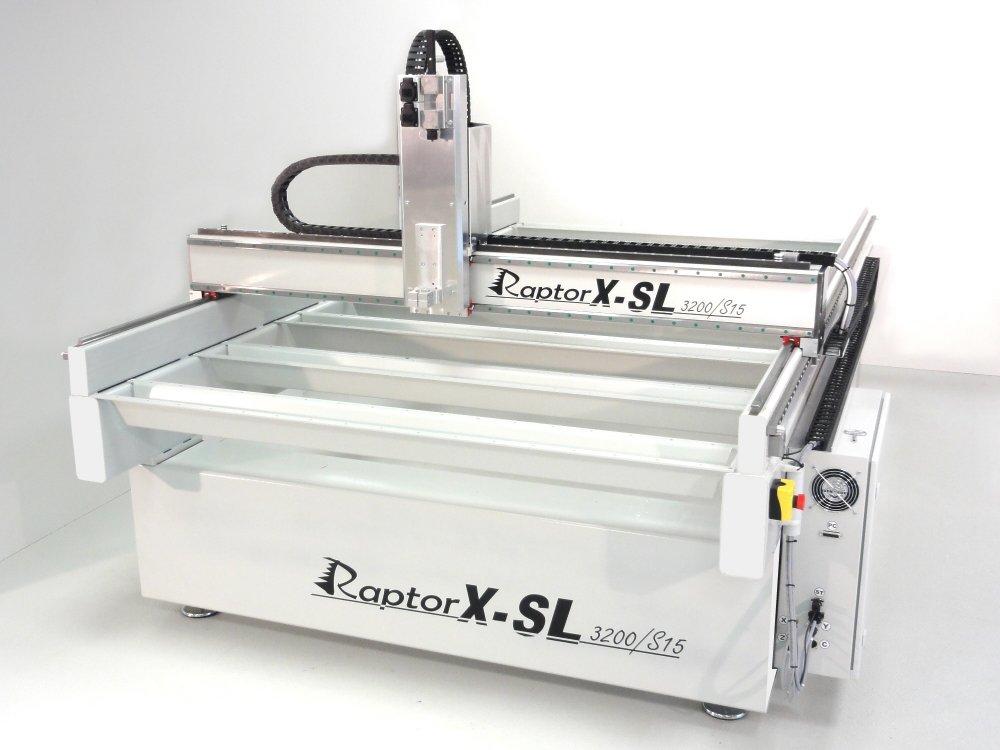 kaufen XL Fraesmaschine / Graviermaschine RaptorX-SL2200/S20 | 2200x2010x300mm Fahrweg Stahlrahmen, Massive Stahlkonstruktion Zahnstangenantriebe