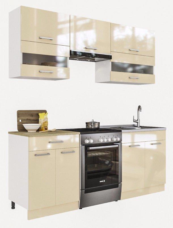 """kaufen ELDORADO """"Alina-Creamlack"""" Küche Küchenzeile 200 cm"""