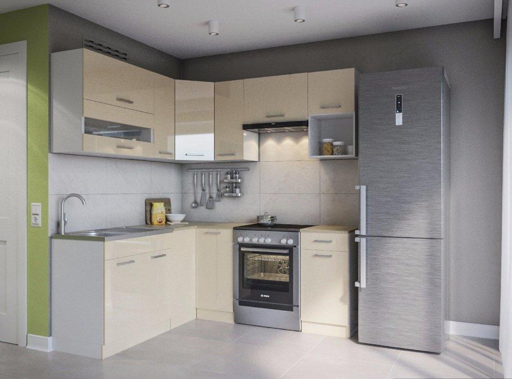 """kaufen ELDORADO """"Alina-Creamlack"""" Küche Küchenzeile L-Form 190x170"""