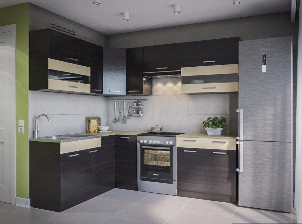 """kaufen ELDORADO """"Alina-Wenge"""" Küche L-Form 230x170 cm Einbauküche Küchenblock neu"""