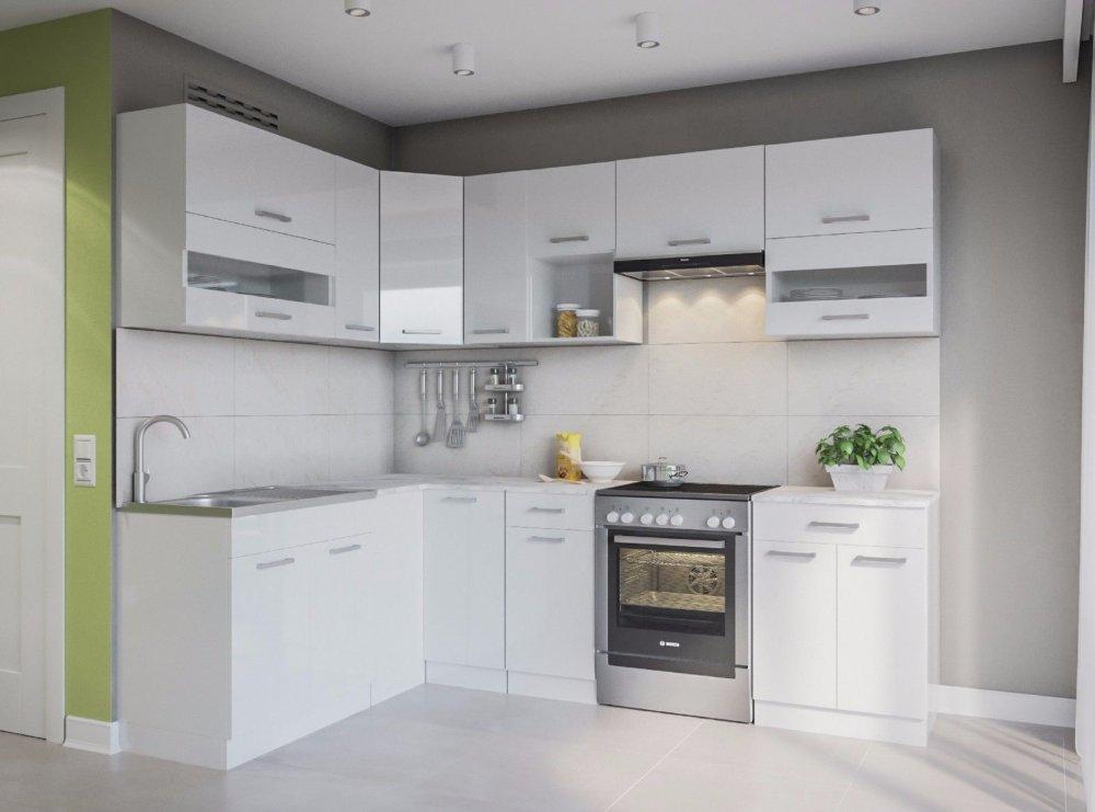 """kaufen ELDORADO """"Alina-Weißlack"""" Küche L-Form 250x170 cm Einbauküche Küchenblock neu"""