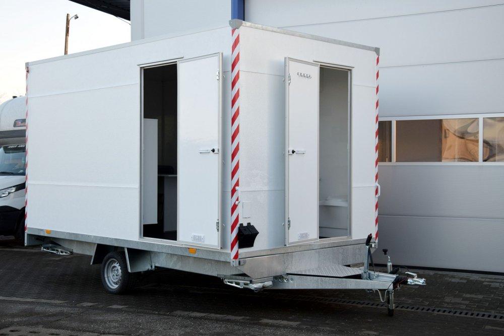 kaufen Hofmann Bauwagen Bürowagen mit Toilette 1800kgGG