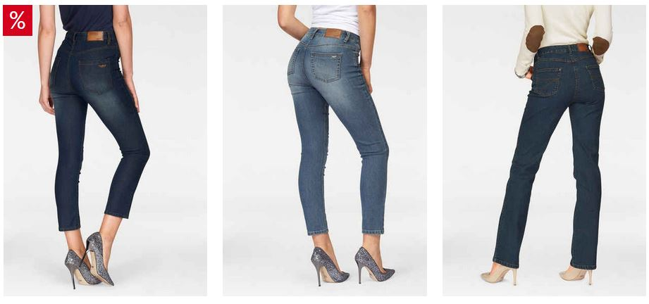 kaufen Jeans for women small and large bulk. Mix different models, 80% brand Arizona USA.