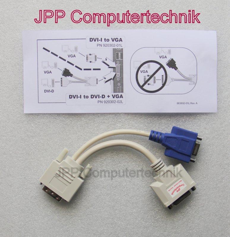 kaufen Y Kabel DVI IN auf 1 x VGA OUT und 1x DVI OUT für Monitore