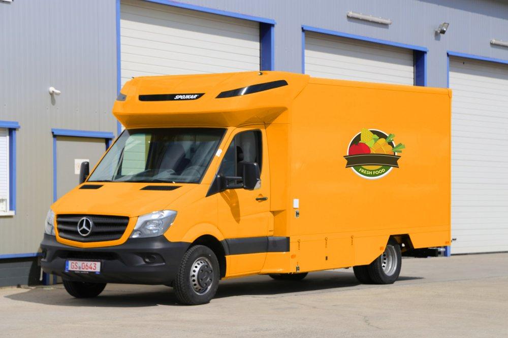 kaufen Mercedes-Benz Verkaufsfahrzeug, Verkaufsaufbau 420x230x230 cm