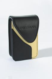 Leder Elegance Mini 105 black/vanilla Ledertasche