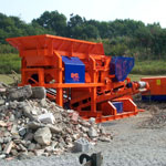 Units for recycling construction waste