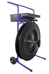 Abwollwagen für einlagiges Stahlband