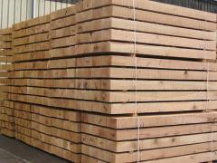 Railway sleepers oak