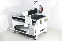 Portalfräsmaschine T-Rex 0609 900x600 mm Fahrweg. Massiver Aluguss Maschinentisch mit Linearführungen und Faltenbälgen auf allen Achsen