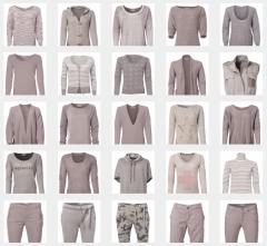 Mischposten stilvoller Damenkleidung aus Europa