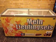 Kühltruhe mit Glasdeckel