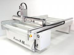 XXL Fraesmaschine / Portalfraese Stahl-RaptorX-SL3200/S20 mit 3200x2010x300mm / 20er Linearführungen, Zahnstangen