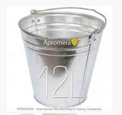 Zinkeimer 12 Liters / eimerverzinkt , blecheimer , metalleimer, Eimer verzinkt Pflanzkübel