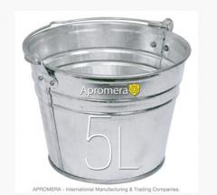 Zinkeimer 5 Liters / eimerverzinkt , blecheimer , metalleimer, Eimer verzinkt Pflanzkübel