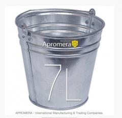 Zinkeimer 7 Liters / eimerverzinkt , blecheimer , metalleimer, Eimer verzinkt Pflanzkübel