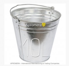 Zinkeimer 10 Liters / Blecheimer Eimer verzinkt Pflanzkübel