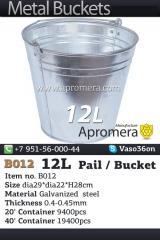 Eimer Verzinkt 12L / Eimer und Behältnisse für alle Zwecke