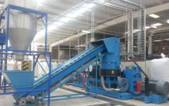 Каскадная линия грануляции пленки LDPE Производительностью – 400-500 кг – RBEKCM-433/2015