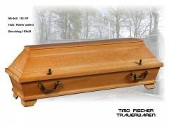Trauerwaren, Särge, Urnen, Bestattungswäsche, Sargbeschläge