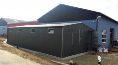 Lagerhalle Blechgarage Lager Landwirtschaft 7x15m mit Statik