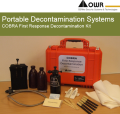 COBRA Portable Decontamination Systeme First Response Decontamination Kit für Notfallhelfer-Teams