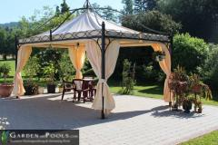 Pavillon Rechteckig Partyzelt Metallpavillon Gartenlaube DUBAI