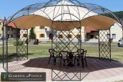 Romantiker Pavillon Rund Metallpavillon Gartenlaube Laube ROMA