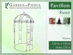 Massiver Rundpavillion Metallpavillion RUND Gartenlaube Metallbau