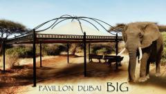 Pavillon DUBAI BIG Partyzelt Metallpavillon Gartenlaube Gazebo