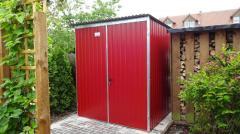 Garage Blechgarage Motorradgarage Schuppen Fertiggarage - 2x3 m