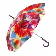 Automatic Long Umbrella AIRTON 1624 Shiny Satin Colourful Designs