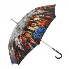 Automatic Stick Umbrella ZEST 21664 Shiny Satin Art Designs