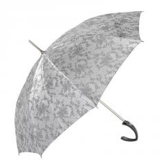Automatic Long Umbrella ZEST 21623 Shiny Jacquard Stylish Crook Handle