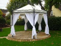 Massiver 6-eckiger Pavillon Casablanca Laube Partyzelt