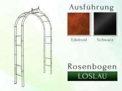 Rosenbogen LOSLAU Pergola Metallrosenbogen Gartenbogen Rosensäule