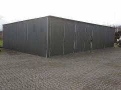 Halle Lager Landwirtschaft Reihengarage Flachdach 18x7m 2x Doppelflügeltore 3x3m