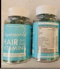 Sugarbearhair Hair Vitamins  Vegetarian Gummies