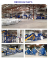 The equipment on processing plastic