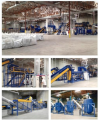 Equipment for the preparation of the waste products of thermoplastics for processing