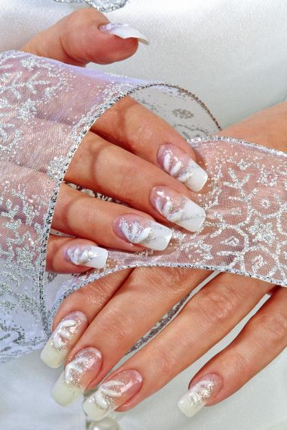 Фото самый красивый свадебный маникюр