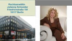 Rechtsberatung. Russischsprachige Rechtsanwältin in Berlin Julianna Schneider