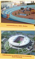 Ausstattung für Fußball- und Leichtathletik-Stadien