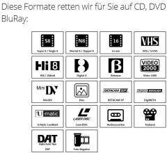 Videokassetten & Co. auf DVD überspielen